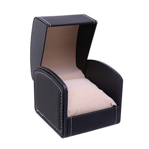 ibasenice 1 stück uhr box schmuck vitrine armband lagerung halter elegante aufbewahrungsbox leere uhr fall für shop frauen
