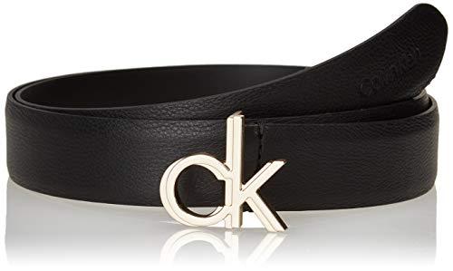 Calvin Klein Logo Belt 30MM Cintura, Ck Nero, 100 cm Donna
