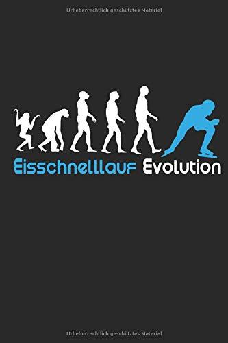 Eisschnelllauf Evolution: Notizbuch/Tagebuch/Organizer/120 Linierte Seiten/ 6x9 Zoll