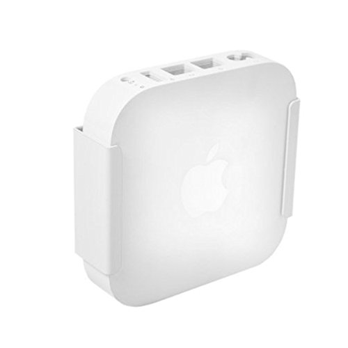 HIDEit Air-XS Wall Mount (White) | Bracket for Apple Airport Express MC414LL/A - Made in The USA
