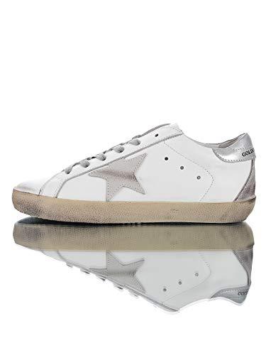 GGDBGolden Goose Luxury Fashion HombreMujer Blanco Cuero Zapatillas | Season Permanent (38 EU,001)