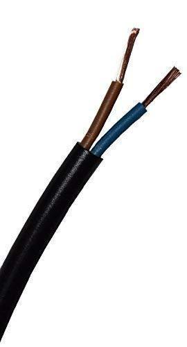 Schlauchleitung H05 VV-F, 2 x 1,5 mm², 50 m, schwarz - H05VV-F 2x1,5 mm²