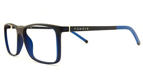 NOWAVE Occhiali neutri per PC, TV e Gaming | Eliminano stanchezza visiva e mal di testa | Montatura super leggera | Occhiali riposanti ANTI LUCE BLU 40% e UV 100% | Sky