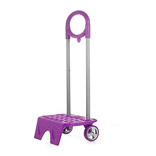 SKPAT - Carro para Mochila Escolar Infantil con Ruedas niño niña Adaptable a Cualquier Mochila 1116, Color Fucsia