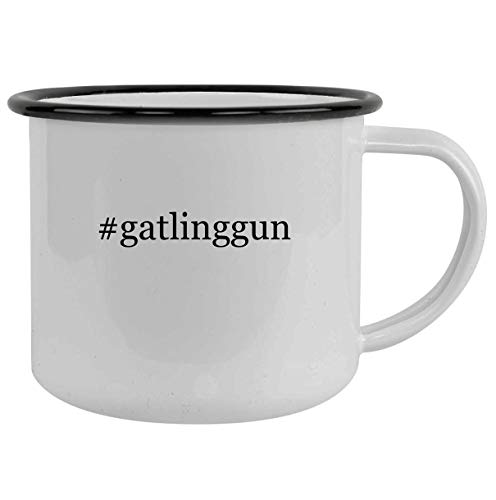 #gatlinggun - 12oz Hashtag Camping Mug Stainless Steel, Black