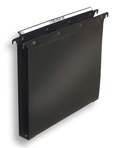 ELBA 100330396 Polypro Ultimate hangmappen 10 stuks voor A4 van kunststof aan de zijkant open zwarte kast ideaal voor losse vellen op kantoor en de overheid