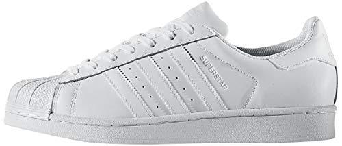 Adidas - Originals Superstar, scarpe da ginnastica da bambino, Bianco (Calzature bianche e bianche.), 42 EU