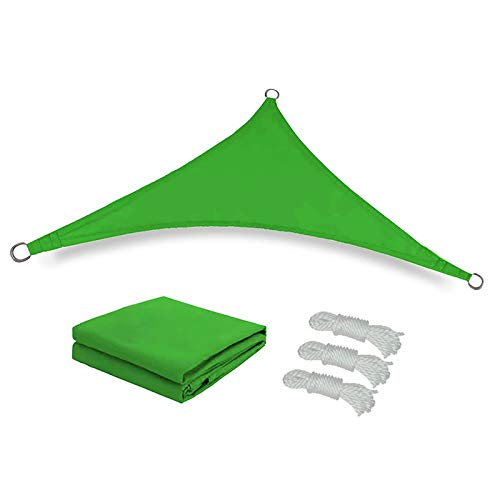 YIREAUD Toldo triangular de 9,8 x 9,8 x 9,8 cm, toldo triangular para patio, jardín, terraza, color arena