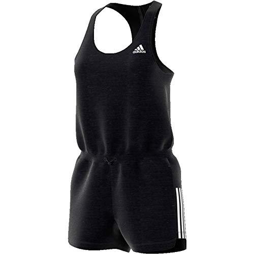 adidas Damen, Sport to Street Romper Jumpsuit Schwarz, Weiß, S Oberbekleidung, S