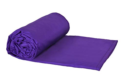 WEIGHTED BLANKETS PLUS LLC - CHILD SMALL WEIGHTED BLANKET - PURPLE - COTTON/FLANNEL (48'L x 30'W) 5lb MEDIUM PRESSURE