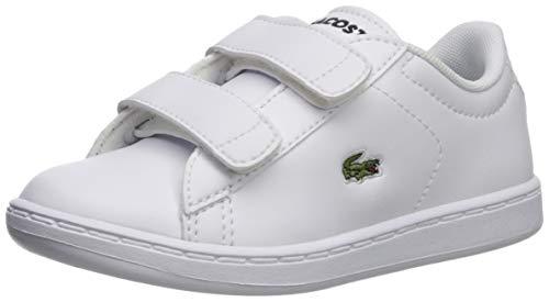 Lacoste Baby Carnaby EVO Sneaker White, 9. Medium US Toddler