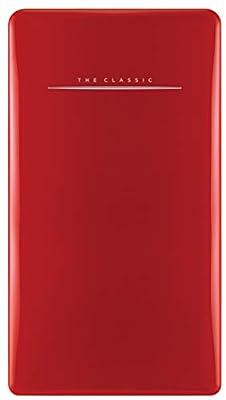 Daewoo FR-044RCNR Retro Compact Refrigerator 4.4 Cu. Ft. | Pure Red