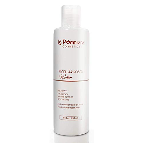 Le Pommiere Tónico agua Micelar de Rosas facial 250ml. Limpia y desmaquilla el rostro. Hidrata y tonifica en forma natural la piel