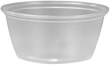 PROPAK 200 Count Durable Translucent Plastic Cups - Shot, Jello, Soufflé, Portion Disposable Cups (3.25 oz) CUPS ONLY