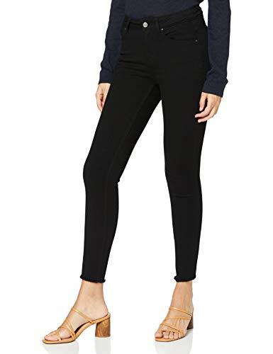 ONLY Damen onlBLUSH MID SK ANK RAWJNS REA2343 NOOS Skinny Jeans, Schwarz (Black Denim), W29/L30 (Herstellergröße: M)