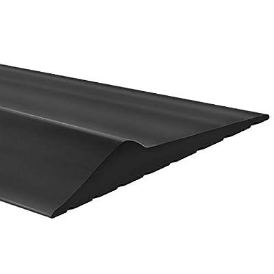 Weatherproof Universal Garage Door Bottom Threshold Seal Strip DIY Weather Stripping Replacement?Not Include Sealant/Adhesive (16Ft, Black)