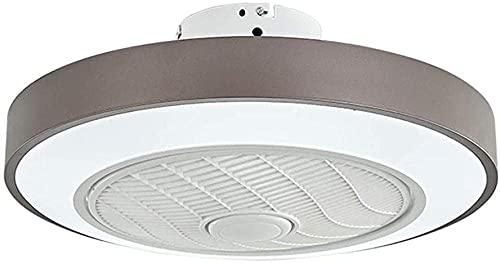 FENGTING Ventiladores de Techo, Fan Lámparas de Techo Control Ultra Thine Remote Invisible Silent Dimmable Luz de Techo con Ventilador Sala de Estar Dormitorio LED Fan Light Pink-Blue (Color : Gris)