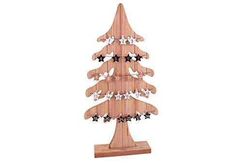 Posten Börse Xmas Adventskalender Tannenbaum Holz mit Holzklammern 60cm