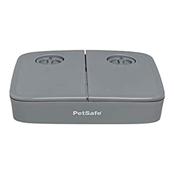 PetSafe Distributeur de Croquettes Automatique par minuterie pour 2 Repas pour Chien/Chat, Résiste aux Pattes Curieuses, Contrôle des portions, Sans BPA, à pile
