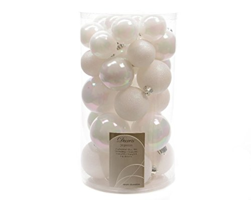 Set di 30 palle di Natale Risa Bianco