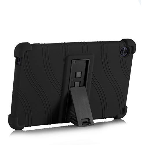 SsHhUu iPad Mini 5 Case, Light Weight Kid Friendly Soft Silicone Protective Cover with Kickstand for iPad Mini 5 2019/iPad Mini 4 2015 (7.9' Display), Black