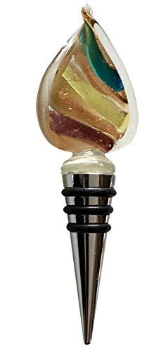 Flaschenverschluss Glasverschluss Glaskorken braun Murano Stil Bottle Stopper