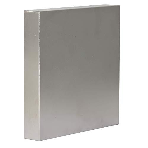Neodym Magnet N52 800 Kg - Neodym Magnete Extra Stark - Super Magneten Quader Groß - 120x120x20 mm Power Block Platte
