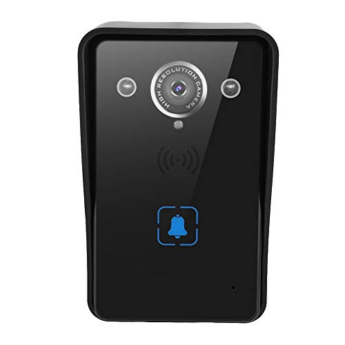 ASHATA WiFi Video Doorbell, Smart WiFi Visual Doorbell Video IR Night Vision Phone Camera Control de teléfono Intercom, Soporte de Control Remoto en la aplicación de su teléfono(Negro)