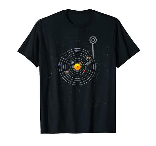 Sonnensystem Schallplatte T-Shirt, Sonne, Planeten und Co.