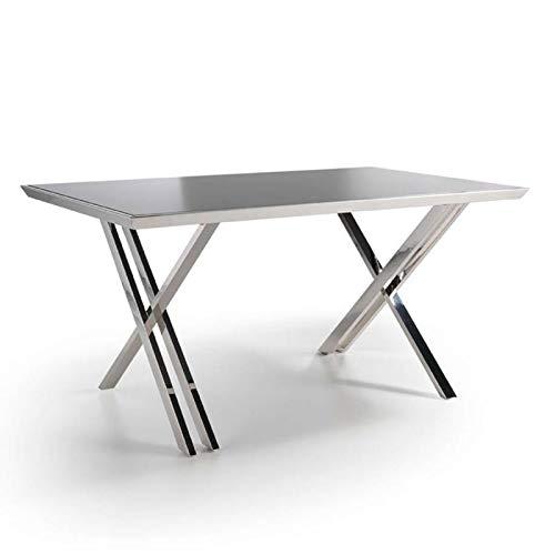 Paris Prix - Bureau Design volty 160cm Argent