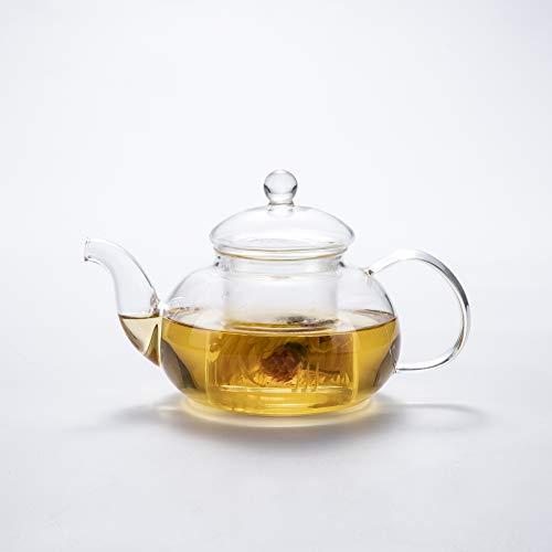 DecentGadget, Teiera in vetro borosilicato ad alta resistenza al calore Una teiera da 800 ml.