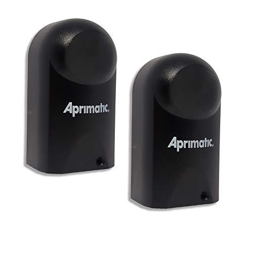 APRIMATIC ER48 – Coppia Fotocellule Universali - A infrarossi – DC 12-24V – Da Esterno - Applicazione a parete – Compatibili con qualsiasi impianto di automazione cancello - Nero