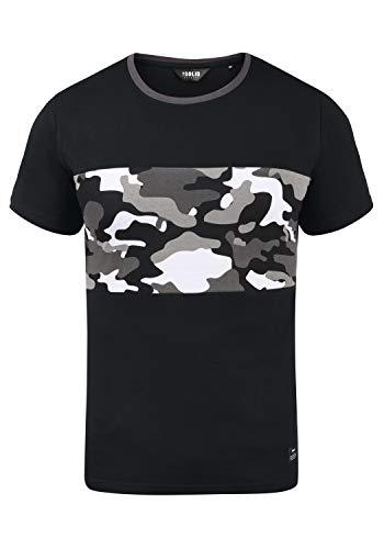 !Solid Callux Herren T-Shirt Kurzarm Shirt mit Print und Rundhalsausschnitt, Größe:XXL, Farbe:Black Grey (G9000)