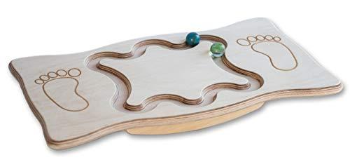 A. Kaar Kg Balance Board aus Holz mit Labyrint Motorik Balancier Fußbrett