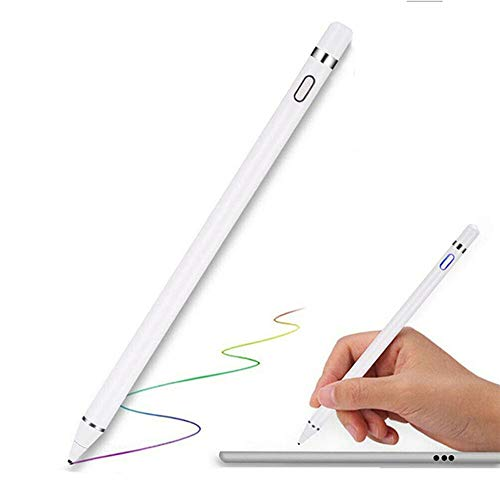 Active capacitive pen, Capacitive Pen / Fine Point Precision Electronic Pen for Ipad,iphone,samsung, Androd,tablet,touch Screen Devices-drawing and Handwriting Digital Pencil (white)