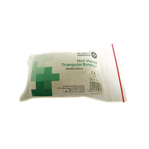 St John Ambulance – Vendaje triangular desechable de 90 x 90 x 130 cm.