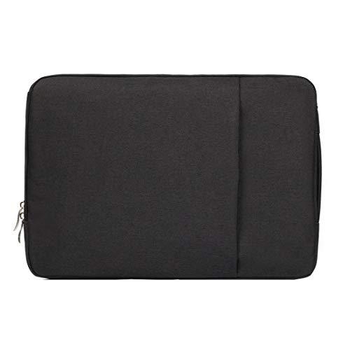 WXX 11.6 inch Universal Fashion Soft Laptop Denim Bags Portable Zipper Notebook Laptop Case Pouch for MacBook Air, Lenovo and other Laptops, Size: 32.2x21.8x2cm (Black) (Color : Black)