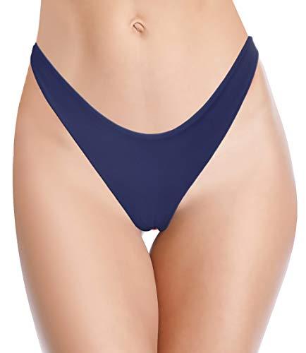 SHEKINI Damen Mini Tanga Bikinihose Micro String Bikinislip Unterhose Beweglich Brazilian Badeslip(Gelb,S)