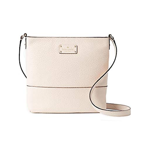 Kate Spade Bay Street Cora Leather Crossbody Bag Purse Shoulder Bag (Pumice)
