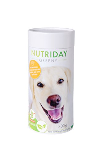 NUTRIDAY Greeny - Pulver aus frischem Obst, Gemüse und Kräuter für Hunde OHNE künstliche Zusatzstoffe, 700g