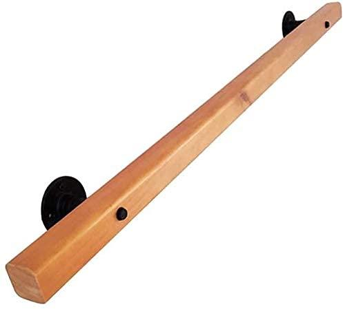 GAXQFEI Escaleras Handrail Barandillas de Mano Handrail Solid Wood Stair Barbos de Seguridad, Diseño Cuadrado, Hogar Interior Y Al Aire Libre Skid Skid Armrests,50Cm
