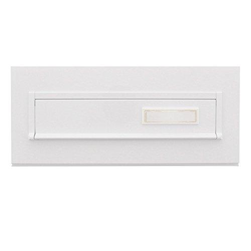 Burg-Wächter Einwurfblende mit Namensschild, Stahl, Blende 794 W, Weiß