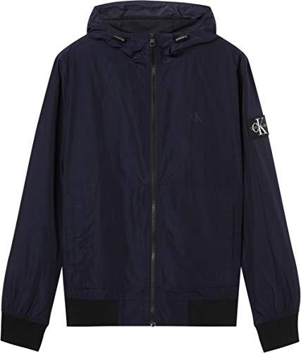 Calvin Klein Jeans Essentials Hooded Bomber Coupe-Vent, Bleu Nuit, XL Homme