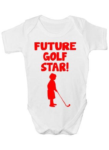 Future Golf Star Sport Funny Body bébé Cadeau Tailles 0–3 mois à 12–18 mois - Blanc -