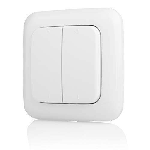Smartwares Trådlös strömbrytare – plug & anslutning – dubbel strömbrytare – vit – SH4-90159