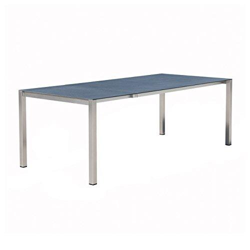 OUTLIV. Gartentisch ausziehbar Ausziehtisch 160/210/280x100cm Edelstahl/Spraystone anthrazit Terrassentsich