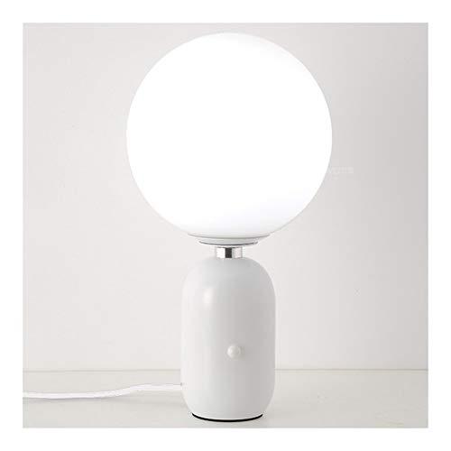 HGDH Iluminación Moderna Cristal Moderno nórdico esférica lámparas de Tabla del Oro del Cuerpo Negro Dormitorio Sala de Estudio de Noche pequeña Gran Base Ligera