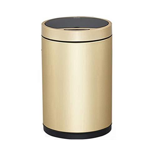 Intelligente Sensor Prullenbak Huis Automatische Open Cover Elektrische Champagne Goud (6L, 9L, 12L) Keuken Woonkamer Badkamer Slaapkamer Sanitaire Emmer Recycling bin prullenbak recycling bin opslag bak