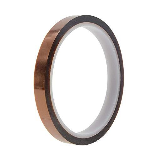 Uotyle 1 Rollen Kapton Tape Hitzebeständiges Tape Hochtemperatur Isolierband polyimid Elektronik Klebeband 3D Drucker Isolierband(10mm x 33m,Tawny)