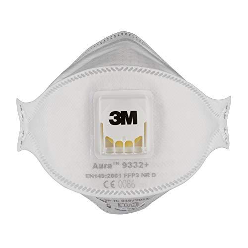 3M Atemschutzmaske 9332 Komfort, Schutzstufe FFP3